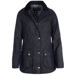 Autumn 2018 Barbour Abbey Wax Cotton Jacket - Royal Navy