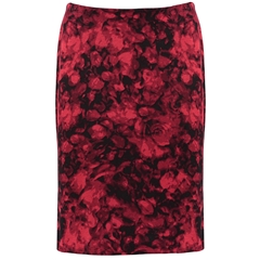 Autumn 2018 Pomodoro Posy Skirt - Red