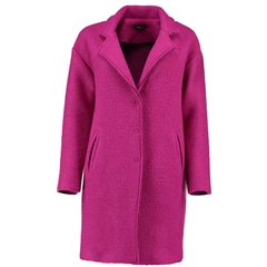 Autumn 2018 Pomodoro Wool Blend Coat - Fuschia