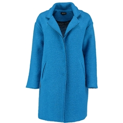 Autumn 2018 Pomodoro Wool Blend Coat - Kingfisher