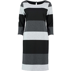 Autumn 2018 Pomodoro Bold Stripe Dress - Grey