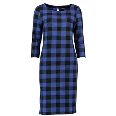 Autumn 2018 Pomodoro Check Dress - Royal