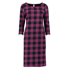 Autumn 2018 Pomodoro Check Dress - Fuchsia