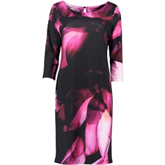 Autumn 2018 Pomodoro Placement Flower Dress - Fuschia