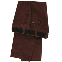 m.e.n.s. Luxury Cotton Chino Trouser - Brick