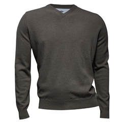 Fynch Hatton Wool & Cashmere V Neck - Ashgrey