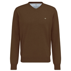 Fynch-Hatton Wool & Cashmere V Neck - Caramel