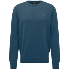 Fynch-Hatton Wool & Cashmere Crew Neck - Ocean