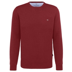 Fynch-Hatton Wool & Cashmere Crew Neck - Crimson