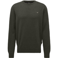 Fynch Hatton Wool & Cashmere Crew Neck - Fir