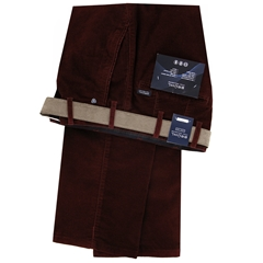 Autumn 2018 Bruhl Cotton Needle Corduroy Trouser - Maroon - Parma B 130160 840