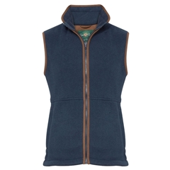 Alan Paine Country Collection - Aylsham Men's Fleece Waistcoat - Dark Navy