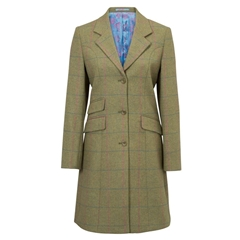Alan Paine Ladies' Combrook Tweed Mid Length Coat - Jupiner