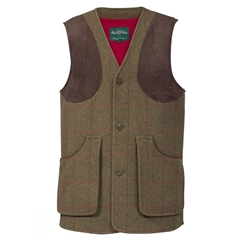 Alan Paine Country Collection - Combrook Men's Tweed Waistcoat - Sage