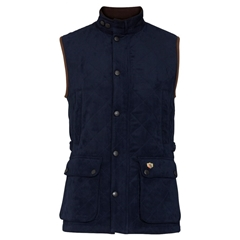 Alan Paine Country Collection - Felwell Men's Quilted Waistcoat - Navy