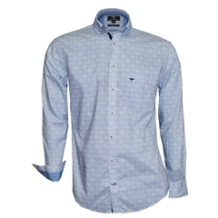 Autumn 2018 Fynch Hatton Shirt - Ice Blue Pattern