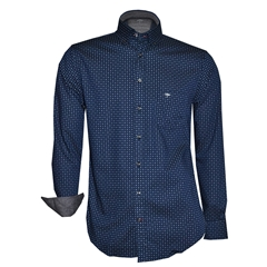 Autumn 2018 Fynch Hatton Shirt - Navy Pattern