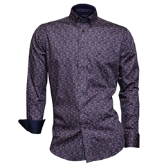 Autumn 2018 Giordano Purple Leaves Shirt