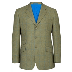 Alan Paine Country Collection - Combrook Tweed Blazer - Lagoon
