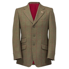 Alan Paine Country Collection - Combrook Tweed Blazer - Sage