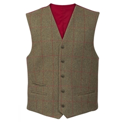 Alan Paine Country Collection - Combrook Tweed Waistcoat - Sage