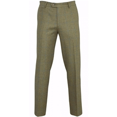 Alan Paine Country Collection - Combrook Tweed Trousers - Lagoon