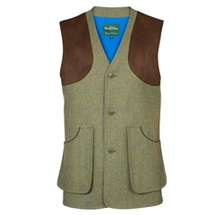 Alan Paine Country Collection - Combrook Men's Tweed Waistcoat - Lagoon