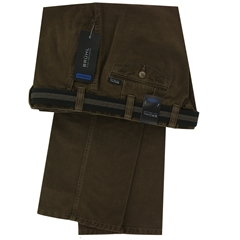 Bruhl Luxury Cotton Trouser - Walnut - Venice B 182310 230