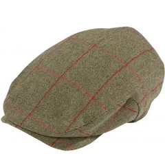 Alan Paine Country Collection - Combrook Men's Extended Peak Flat Cap - Sage