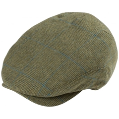 Alan Paine Country Collection - Combrook Men's Extended Peak Flat Cap - Lagoon