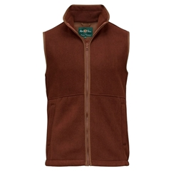 Alan Paine Country Collection - Aylsham Men's Fleece Waistcoat - Russet