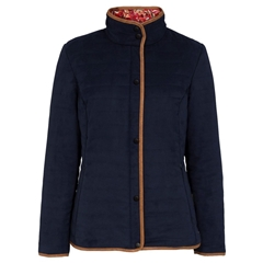Alan Paine Ladies' Felwell Quilted Jacket - Navy