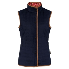 Alan Paine Ladies' Felwell Quilted Gilet - Navy