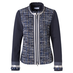 Autumn 2018 Sparkly Tweed Jacket - Navy