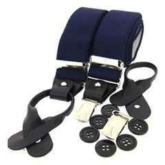 Standard Dual-End Braces - Navy