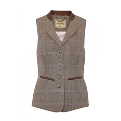 Autumn 2018 Dubarry of Ireland Spindle Tweed Waistcoat - Woodrose
