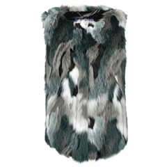 Gerry Weber Faux Fur Body Warmer - Grey Jade