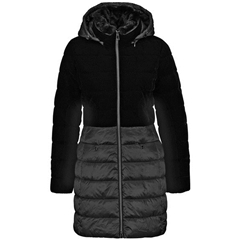 Gerry Weber Quilted Coat in Panelled Look - Black