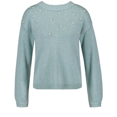 Gerry Weber Jumper With Beads - Jade Melange
