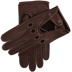 Dents Men's Deerskin Leather Driving Gloves - Bark