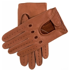Dents Men's Deerskin Leather Driving Gloves - Havana