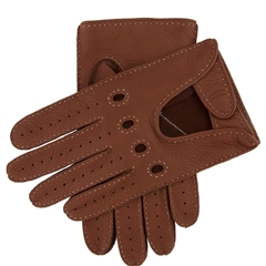 Dents Men's Deerskin Leather Driving Gloves - Highway Tan