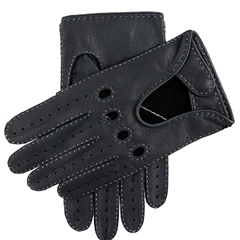 Dents Men's Deerskin Leather Driving Gloves - Navy