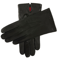 Dents Men's Silk Lined Leather Gloves - Black