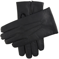 Dents Men's Cashmere Lined Deerskin Gloves - Navy
