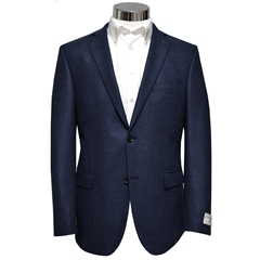 Luxury Royal Blue Marl  - Italian Wool & Silk Cloth