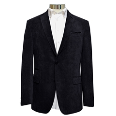 Soft Luxury Corduroy Jacket  - Navy Blue
