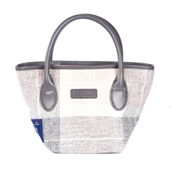 Autumn 2018 Barbour Women's Tartan Mini Tote - Pink and Grey Pastel