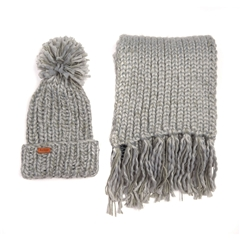 Autumn 2018 Barbour Women's Beanie and Scarf - Grey