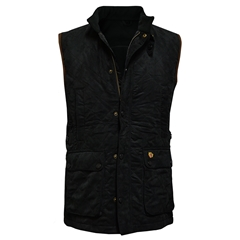 Alan Paine Country Collection - Felwell Men's Quilted Waistcoat - Black - Size Medium Only